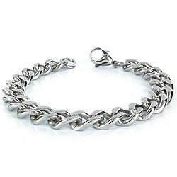 Crucible Stainless Steel Men's 8.5-inch Curb Chain Bracelet