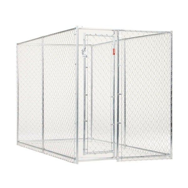 Lucky Dog 6 x 5 x 10 Galvanized Chain Link Box Kennel