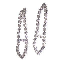 Detti Originals Silvertone Brass Clear Crystal Tie Earrings
