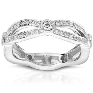 Annello 14k White Gold 1/4ct TDW Diamond Band (H-I, I1-I2)