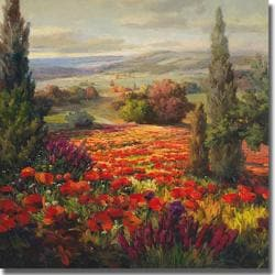 Roberto Lombardi 'Fields of Bloom' Canvas Art