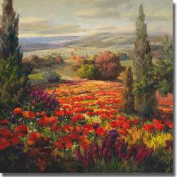 Roberto Lombardi 'Fields of Bloom' Canvas Art