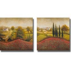 Michael Marcon 'Flourishing Vineyard I and II' 2-piece Canvas Art Set