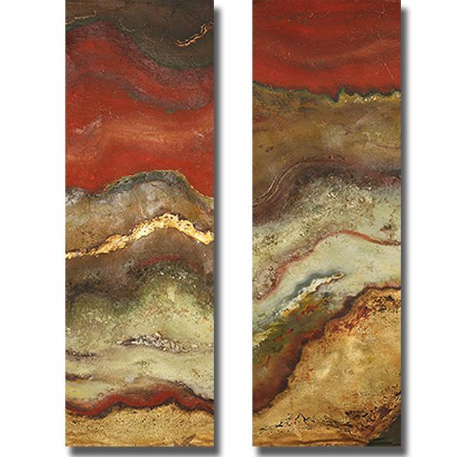 Patricia Pinto 'Tierra Panel I and II' 2-piece Canvas Art Set