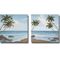 Michael Marcon 'Atlantic I and II' 2-piece Canvas Art Set