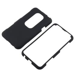 Black Rubber Coated Case for HTC EVO 3D