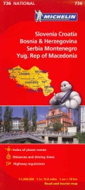 Michelin Slovenia, Croatia, Bosnia & Herzegovina, Serbia Montenegor Yug. Rep of Macedonia (Sheet map, folded)