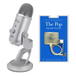 Blue Microphones Yeti USB Condenser Microphone and The Pop Universal Filter Kit