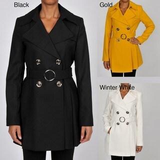 Via Spiga Women's Lightweight Wool-blend Crepe Trench Coat