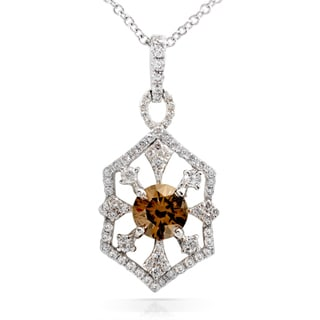 Annello 14k Gold 1 1/10ct TDW Brown and White Diamond Necklace (H-I, I1-I2)