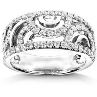 Annello 18k White Gold 1ct TDW Diamond Band (H-I, SI1-SI2)