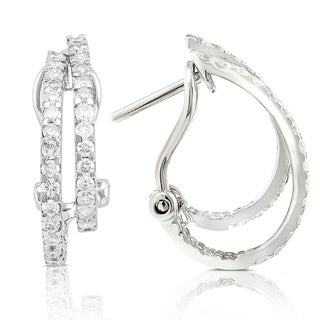 Annello 14k White Gold 7/8ct TDW Diamond Earrings (H-I, I1-I2)