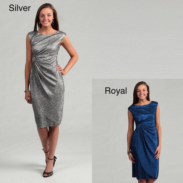 Connected Apparel Women's Ruche Waistline Dress