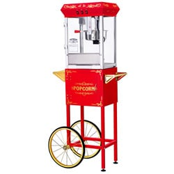 Great Northern Popcorn GNP-800 All Star Red Popcorn Machine and Cart
