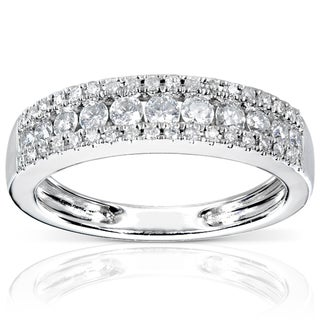 Annello 14-karat White-gold 1/2-carat TDW Diamond Band (H-I, I1-I2)