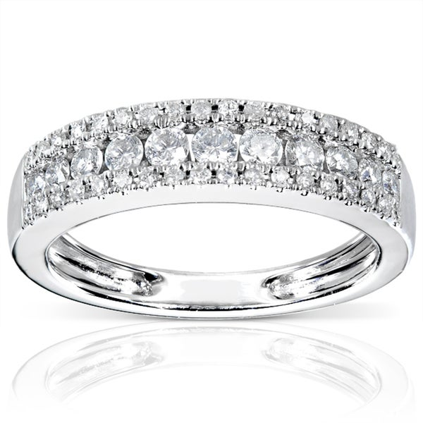Annello 14k White Gold 1/2ctTDW Diamond Anniversary Band (H-I, I1-I2)