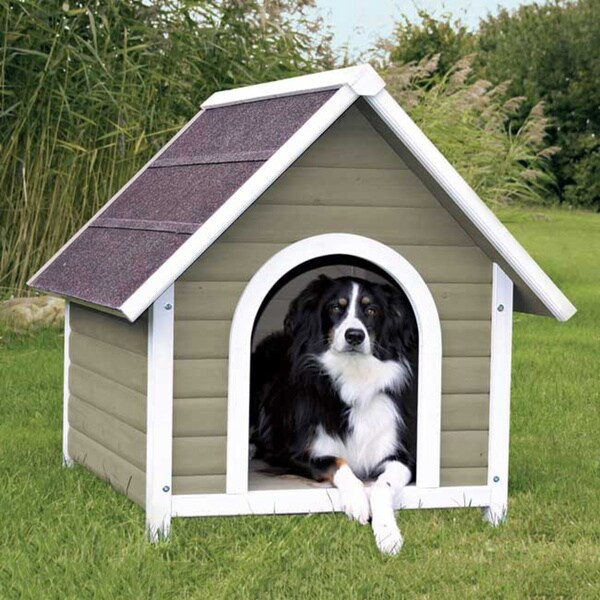 TRIXIE Pet Products Nantucket Medium Stained-pine Dog House 11435695
