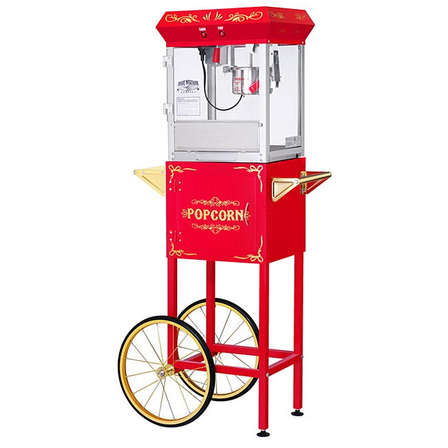 Great Northern Popcorn GNP-400 All Star Red Popcorn Machine and Cart