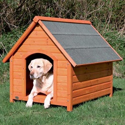 Trixie Large Glazed Pine Adjustable Dog House with Pitched Roof