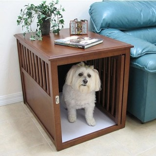 Crown Pet Large Mahogany Furniture Pet Crate
