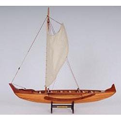 OMH Handcrafted Hawaiian Canoe Model