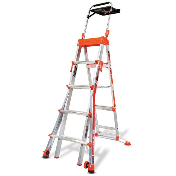 Little Giant Adjustable 5 - 8 ft. Select Step Ladder