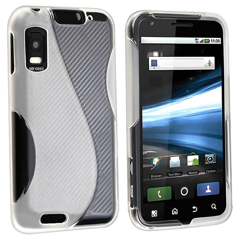 INSTEN Frost White TPU Rubber Phone Case Cover for Motorola Atrix 4G MB860