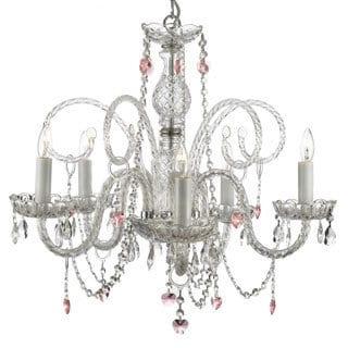 Gallery Venetian-style All Crystal 5-light Chandelier