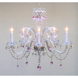 Venetian-style All Crystal 5-light Chandelier