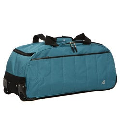 Athalon Teal 29-inch Quilted Extra-light Rolling Duffel
