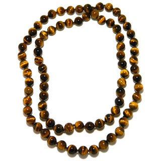 Pearlz Ocean Tiger's Eye Knotted Endless Necklace