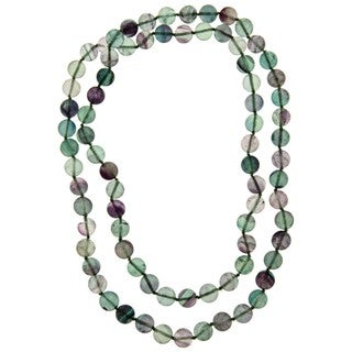 Pearlz Ocean Fluorite 36-inch Knotted Necklace