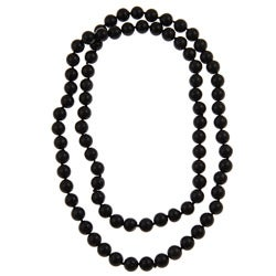 Pearlz Ocean Black Onyx 36-inch Knotted Necklace