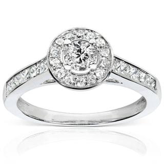 Annello 14k White Gold 3/4ct TDW Diamond Engagement Ring (H-I, I1-I2)