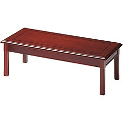 Mayline Toscana Rectangular Wood Coffee Table with Hardwood Inlay