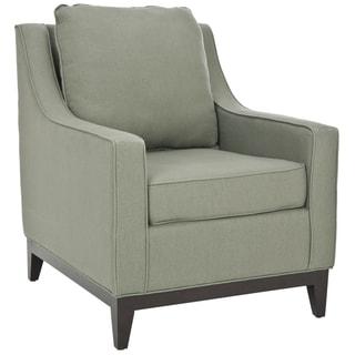 Safavieh Uptown Linen Green Grey Club Chair