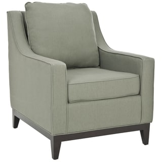 Safavieh Uptown Linen Green Grey Club Chair