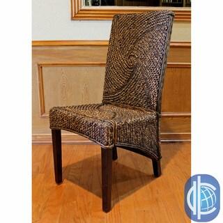 International Caravan Lambada High-back Mahogany Hyacinth Chairs (Set of 2)