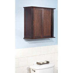 Sliding Door Bamboo Wall Cabinet
