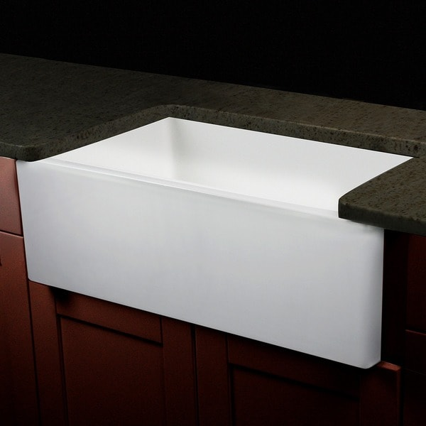 30 Kitchen Sink : ... 30-inch Single Bowl Fireclay Farmhouse Kitchen Sink with Grid and