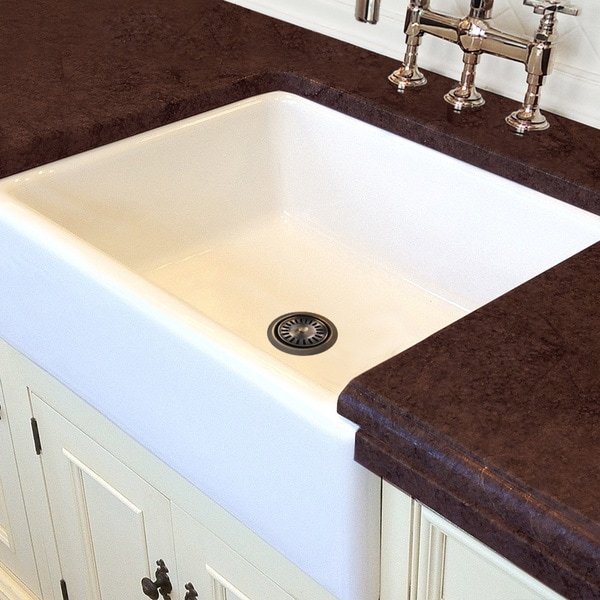 Italian White Fireclay 30-inch Farmhouse Kitchen Sink