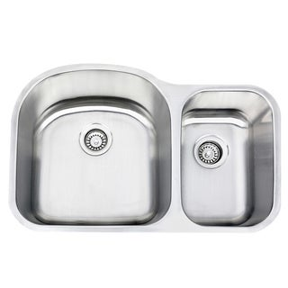 Highpoint Collection Stainless Steel Undermount Double Bowl Kitchen Sink