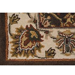 Hand-tufted Royal Garden Autumn Brown Wool Rug (3'3 x 5'3)
