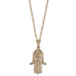 14k Yellow Gold Hamsa Necklace