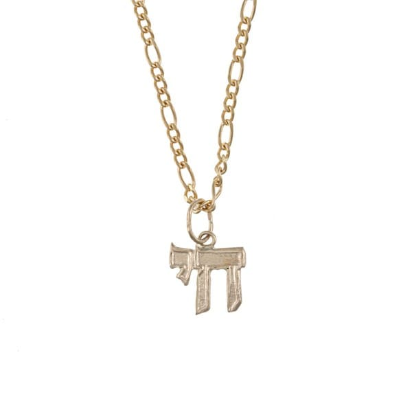 14k Yellow Gold Baby Chai Necklace