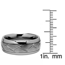 Men's Tungsten Carbide Grooved Ring (8 mm)