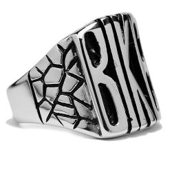 Oliveti Stainless Steel 'Biker' Ring