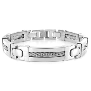 West Coast Jewelry Stainless Steel Cable Link Bracelet