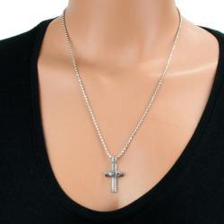 Elya Designs Stainless Steel Claddagh Cross Necklace