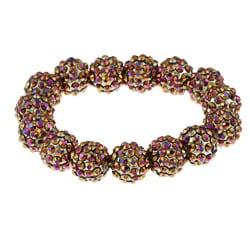 Topaz Aurora Borealis Acrylic Crystal Stretch Bracelet